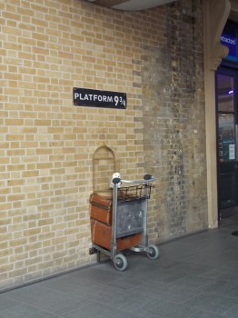 Yes, I double checked the wall at Platform 9 3/4 at King's Cross Station in London.  I didn't go through.